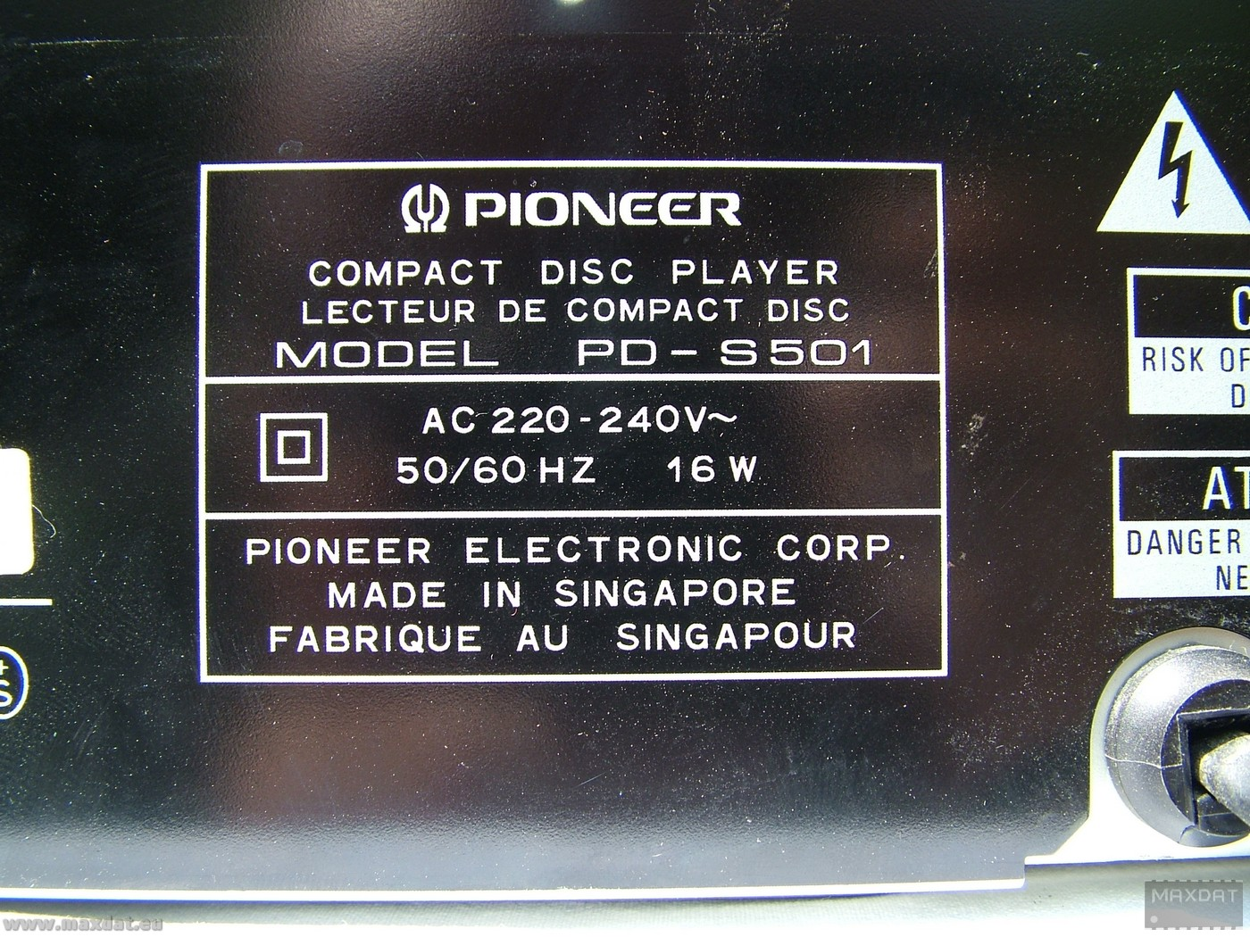 Pioneer PD-S501